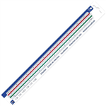 STAEDTLER 561982BK MARS TRIANGULAR REDUCTION SCALE RULER 300MM