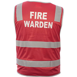 TRAFALGAR HIVIS FIRE WARDEN VEST DAYNIGHT RED LARGE