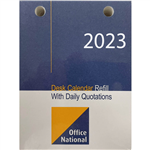 OFFICE NATIONAL 2021 DESK CALENDAR REFILL TOP PUNCH