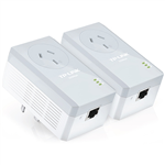 TPLINK TLPA4010PKIT AV500 POWERLINE ADAPTER WITH AC PASS THROUGH STARTER KIT