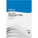 INITIATIVE FLIPCHART PAD 70GSM 40 SHEETS 590 X 890MM PACK 2