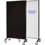 VISIONCHART COMMUNICATE ROOM DIVIDER WHITEBOARD WITH PINNABLE FABRIC 1800 X 900MM WHITE  CHARCOAL