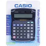 CASIO WD220MSBU WATERDUST PROTECTED CALCULATOR 12 DIGIT BLUE