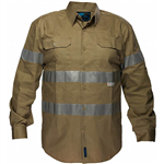 PRIME MOVER MA908 COTTON DRILL SHIRT LONG SLEEVE WITH TAPE
