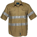 PRIME MOVER MA909 COTTON DRILL SHIRT SHORT SLEEVE WITH TAPE