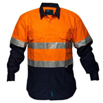PRIME MOVER MA101 COTTON DRILL SHIRT 2 TONE 3M TAPE