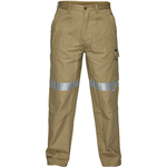 PRIME MOVER MP701 COTTON DRILL PANTS WITH CARGO POCKETS AND TAPE