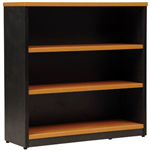 OXLEY BOOKCASE 3 SHELF 900 X 315 X 900MM BEECHIRONSTONE