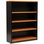 OXLEY BOOKCASE 4 SHELF 900 X 315 X 1200MM BEECHIRONSTONE
