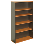 OXLEY BOOKCASE 5 SHELF 900 X 315 X 1800MM BEECHIRONSTONE