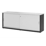 OXLEY CREDENZA 1200 X 450 X 730MM WHITEIRONSTONE