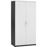 OXLEY FULL DOOR STORAGE CUPBOARD 900 X 450 X 1800MM WHITEIRONSTONE